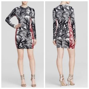Elizabeth and James Mailyn palm print body con